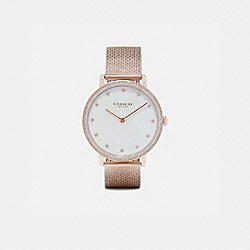 COACH W1639 - AUDREY PAVE WATCH, 35MM CARNATION GOLD