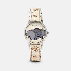 DISNEY X COACH CHELSEA WATCH WITH DUMBO, 32MM - W1665 - CHALK