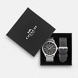 BOXED BAXTER WATCH GIFT SET, 39MM - W1681 - GREY