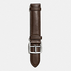 COACH BLEECKER LEATHER WATCH STRAP - MAHOGANY - W4002