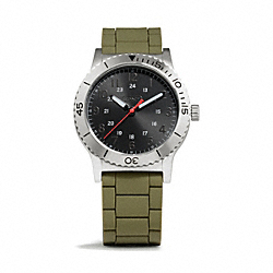 COACH W5000 - RIVINGTON STAINLESS STEEL RUBBER STRAP WATCH ONE-COLOR