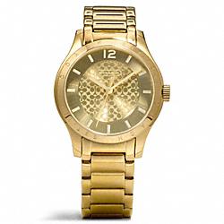 COACH W6006 Maddy Gold Plated Bracelet Watch