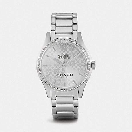 COACH W6045 MADDY STAINLESS STEEL SET BRACELET WATCH STERLING-SILVER