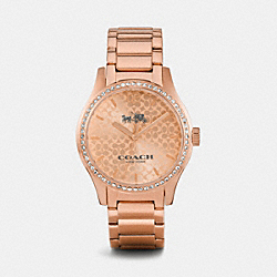 COACH W6047 - MADDY ROSE GOLD TONE SET BRACELET WATCH ROSEGOLD