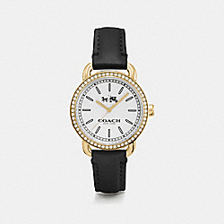 COACH W6052 - LEX GOLD TONE STRAP WATCH BLACK