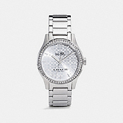 COACH W6213 Maddy Set Stainless Steel Bracelet Watch STERLING SILVER