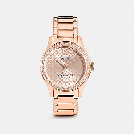 COACH w6214 MADDY SET ROSE GOLD TONE BRACELET WATCH ROSE GOLD