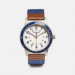 COACH W6229 Rivington Fabric Strap Watch NAVY
