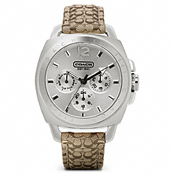 COACH W839 - COACH BOYFRIEND SIGNATURE STAINLESS STEEL STRAP ONE-COLOR