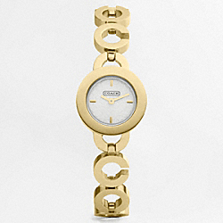 COACH W876 Kristy Gold Plated Bracelet Watch