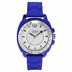COACH W914 Boyfriend Rubber Strap Watch COBALT
