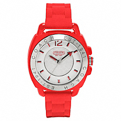 COACH W914 Boyfriend Rubber Strap Watch RED