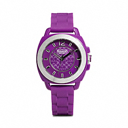 COACH W914 Boyfriend Rubber Strap Watch VIOLET