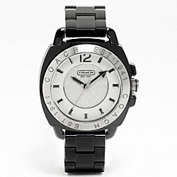 COACH W915 Coach Boyfriend Plastic Bracelet Watch BLACK