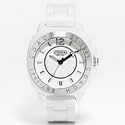 COACH W915 Coach Boyfriend Plastic Bracelet Watch WHITE