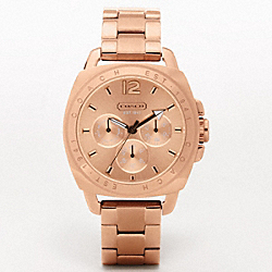 COACH W925 Boyfriend Rose Gold Bracelet Watch