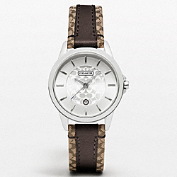 COACH W950 Coach Classic Signature Strap Watch