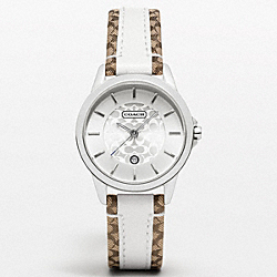 COACH W950 - SIGNATURE STRAP WATCH ONE-COLOR