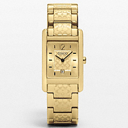 COACH W952 Carlisle Gold Plated Etched Bracelet