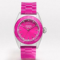 COACH W979 - ANDEE STAINLESS STEEL JELLY STRAP WATCH ONE-COLOR