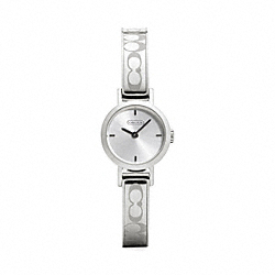 COACH W984 Signature Studio Stainless Steel Bangle Watch
