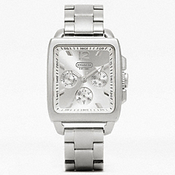 COACH W988 Coach Boyfriend Square Stainless Steel Bracelet Watch