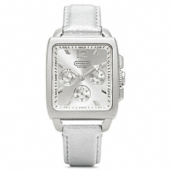 COACH W990 Boyfriend Square Strap Watch SILVER