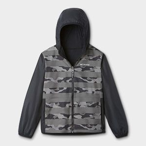 A hooded jacket for kids.