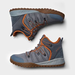 Men s grey and orange hiking boots. a1108a34b6