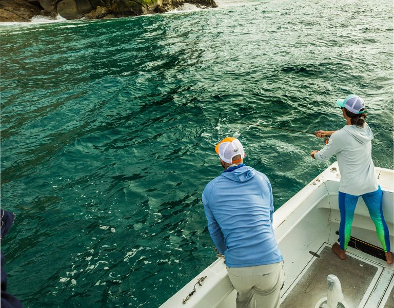 e90c8be42415 Pro anglers fishing in Hawaii.