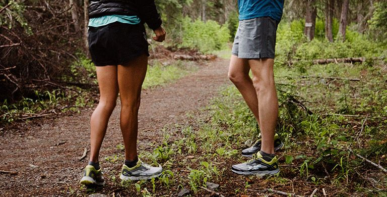 People wearing trail running shoes.