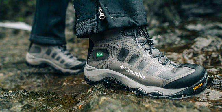 Close-up image of OutDry Extreme Eco hiking boots. 238afdacf66