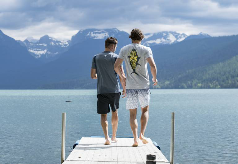 Zac and Dylan at  Lake McDonald.