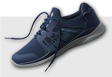 Men's ATS Trail LF92 Shoe in blue with white accents.
