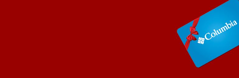 Columbia Gift Card On A Red Background