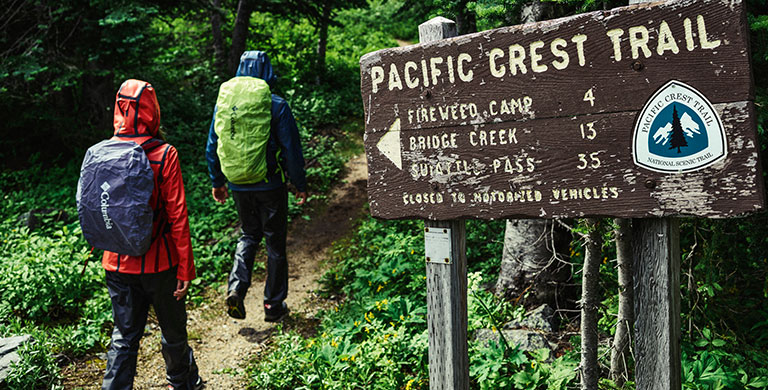 Two hiker on the Pacific Crest Trail.