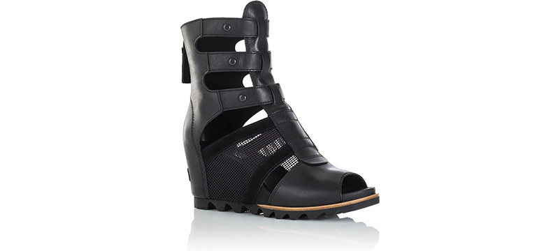 A SOREL Joanie Gladiator Wedge Sandal.