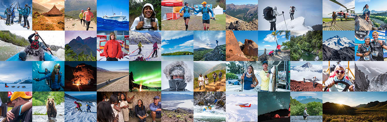 A collage of images of Faith, Mark, and their various adventures as Columbia's Directors of Toughness.