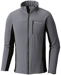 Men's Ghost Mountain Full Zip Jacket in gray with black accents.