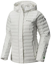 Women's OutDry Ex Eco Down Jacket in white.
