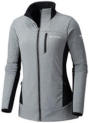 Women's Ghost Mountain Full Zip Jacket in gray with black accents.