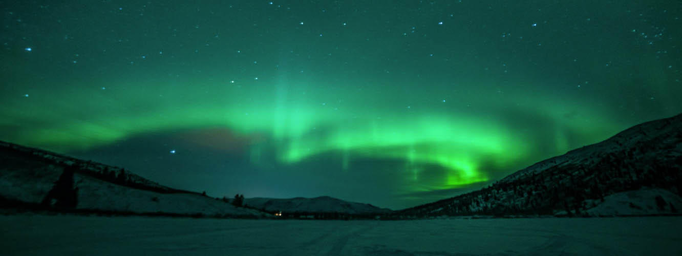 The Northern Lights at night.