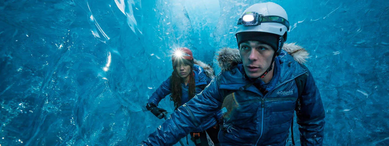 Faith and Mark in ice caves; Iceland video