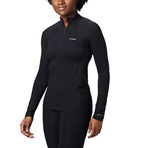 Camiseta con media cremallera Midweight para mujer
