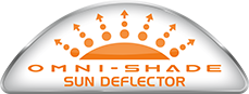 "Logo for ""Omni-Shade Sun Deflector."""