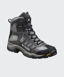 A black and gray mens Daska Pass hiking boot.