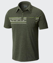 Close-up of a mens Trail Shaker™ II Polo.