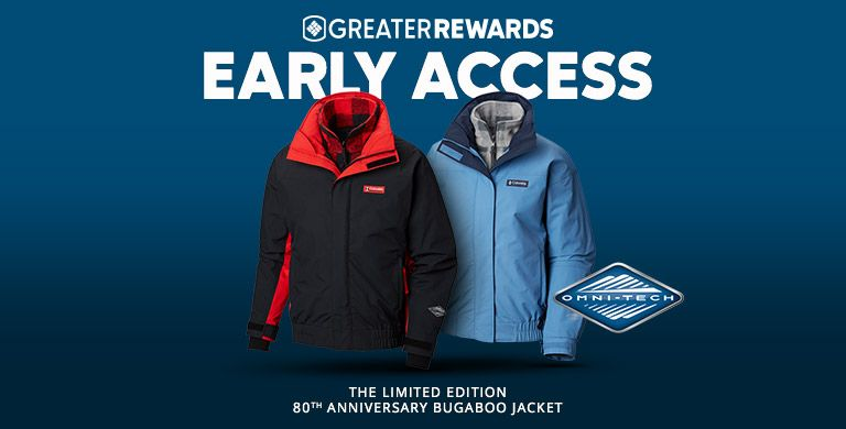 Greater Rewards Early Access, two jackets side-by-side.