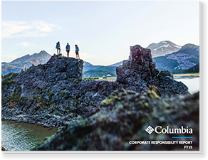 Cover of the 2015 Columbia Corporate Responsibility Report.