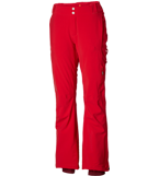 Close-up of women's Titanium ski pants in red.